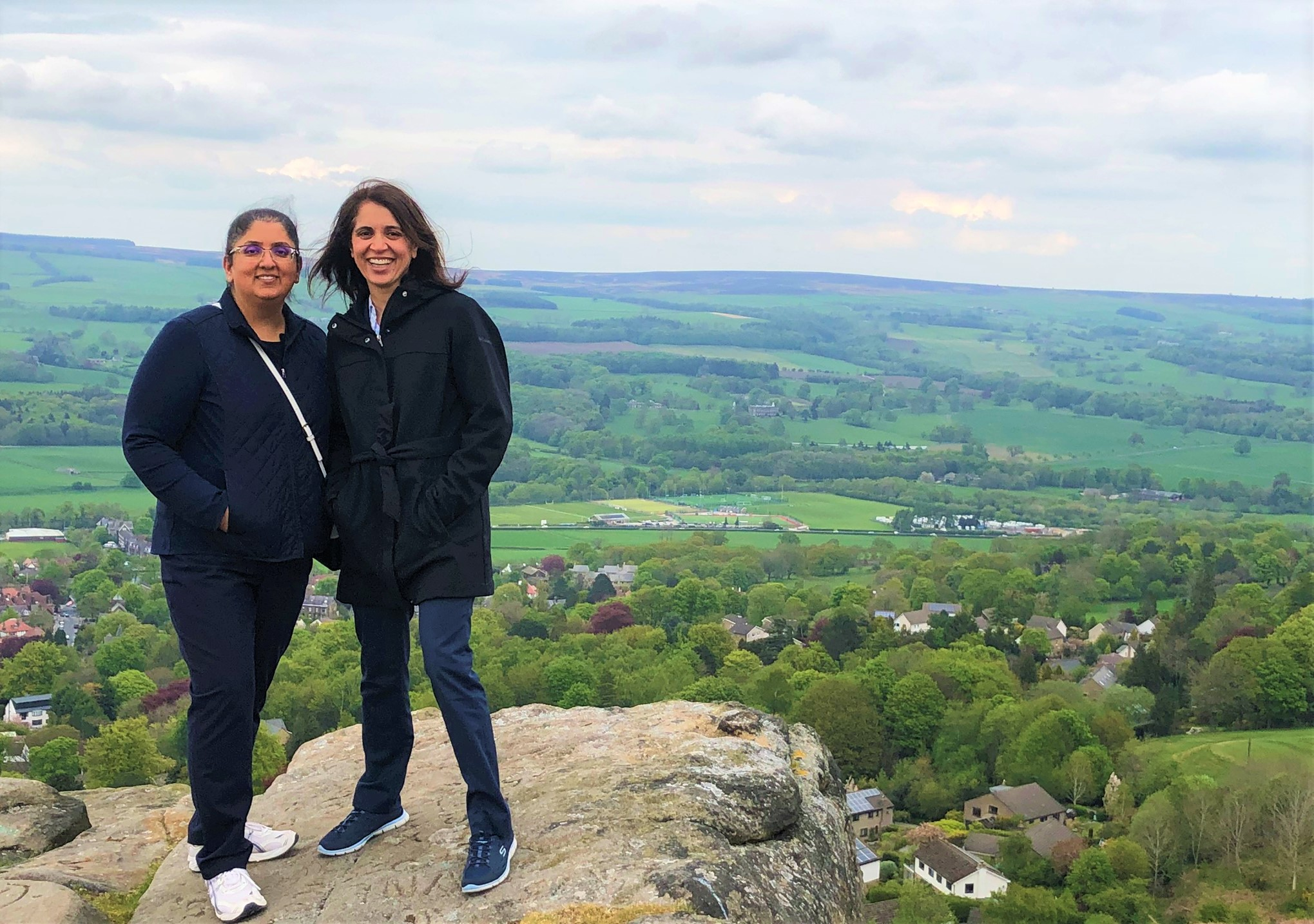 COA ABC fellows atop the Cow and Calf rock formation in Yorkshire
